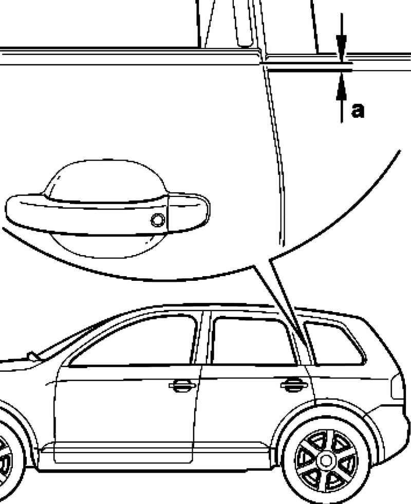 Adjusting the back door. Volkswagen Touareg (from 2003 to