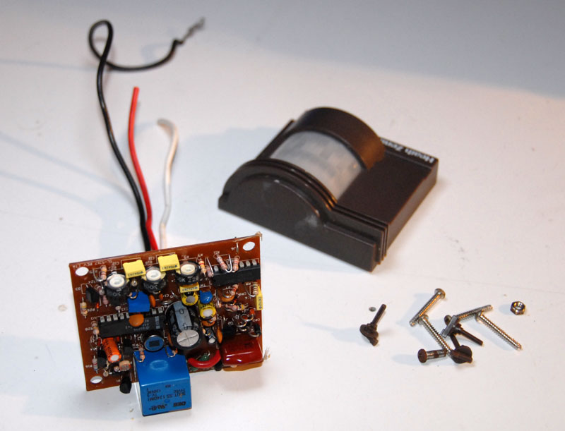 Now Take Apart The Motion Sensor Itself And Pull The Board Wires Out