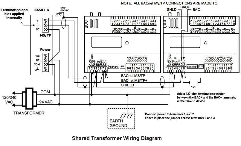 bacnet network mstp wiring