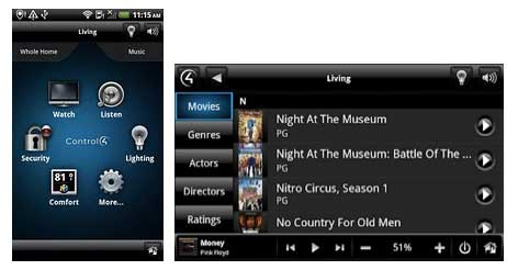 Control4 MyHome App for Android Home Automation – Automated Home