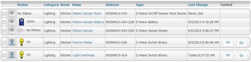 HomeTroller Zee Web Interface