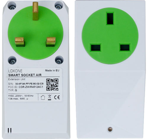 Loxone Smart Socket Air Front and Rear