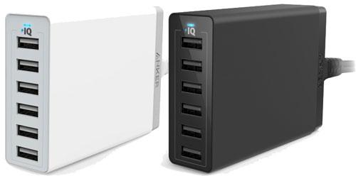 Anker 60W 6-Port Desktop USB Charger