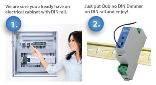 Qubino Z-Wave DIN Rail Dimmer Installation