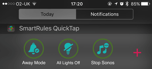 SmartRules QucikTap on iPhone