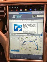 "Tesla Model S 17"" Screen with Web Browser"
