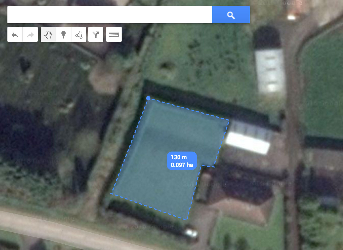 Google Maps - Measure the Area of your Garden