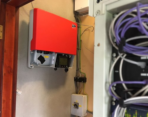 SMA Sunny Boy 3600TL-21 inverter Being Installed in Node Zero