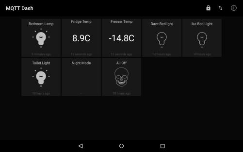 MQTT App on Tablet