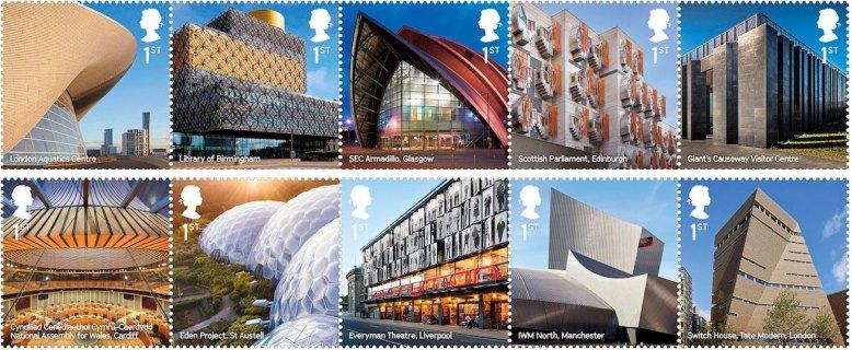Royal Mail Landmark Buildings Stamps 2017