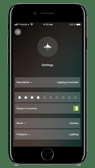 Loxone App on iPhone