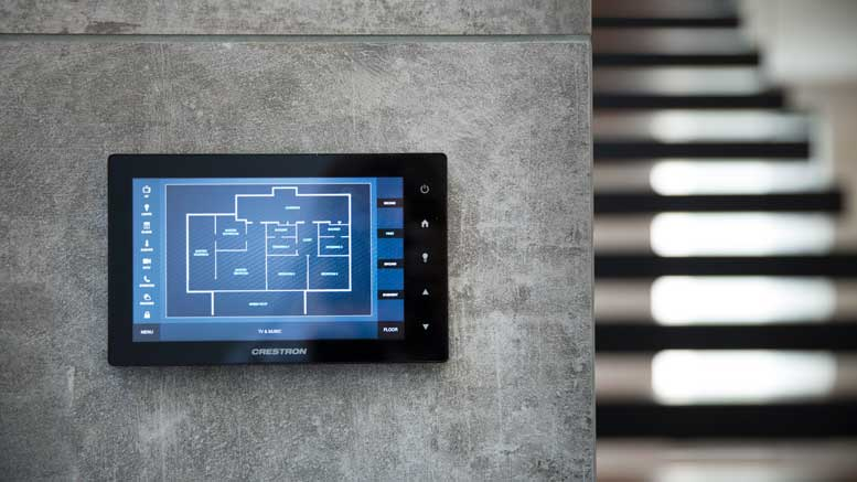 London Smart Home by Pro Install AV - Crestron Touchscreen