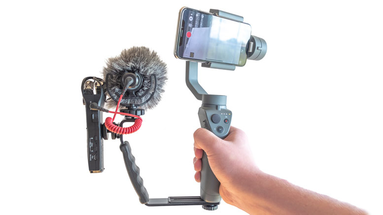 DJI Osmo Mobile 2 with External Mic