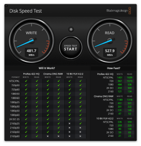 Sandisk Extreme Portable 1TB SSD - Speed Benchmark