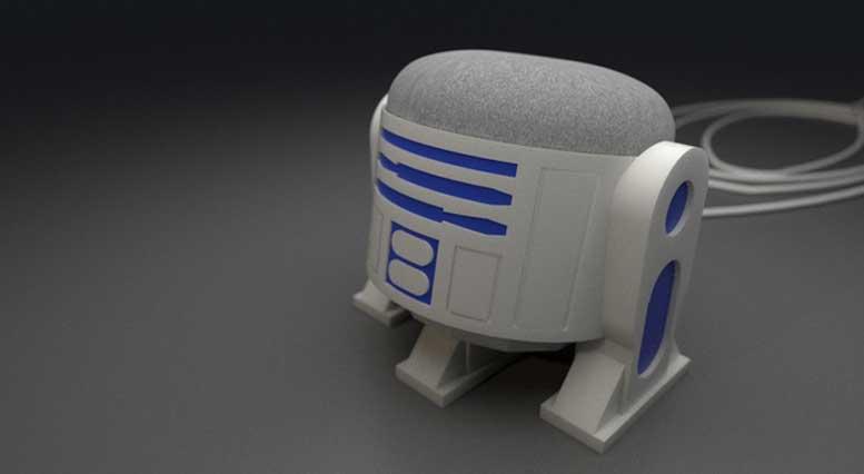 3D Printed Google Home Mini R2D2 Case
