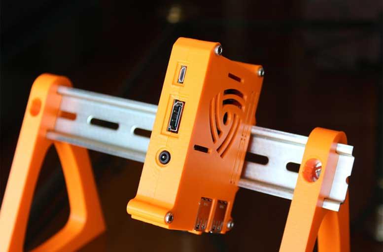 3D Printed Raspberry Pi DIN Rail Case