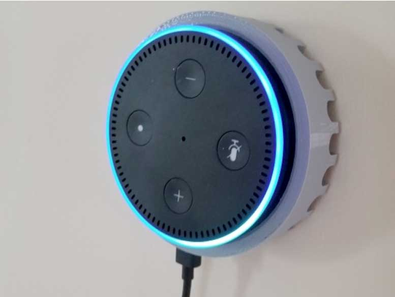 3D Printed Amazon Echo Dot V2 Wall / Ceiling Mount