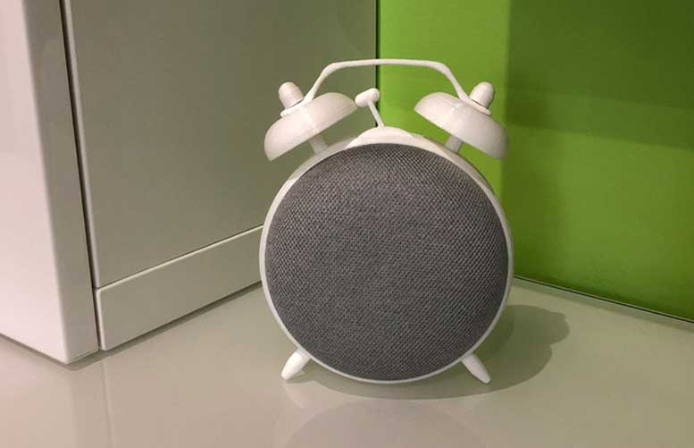 3D Printed Google Home Mini Alarm Clock Stand
