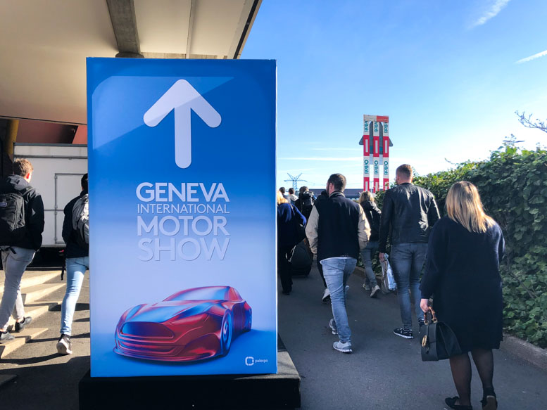 Walking to the Geneva Motor Show