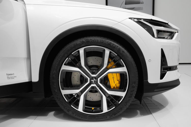 Polestar 2 wheels at the Geneva Motor Show