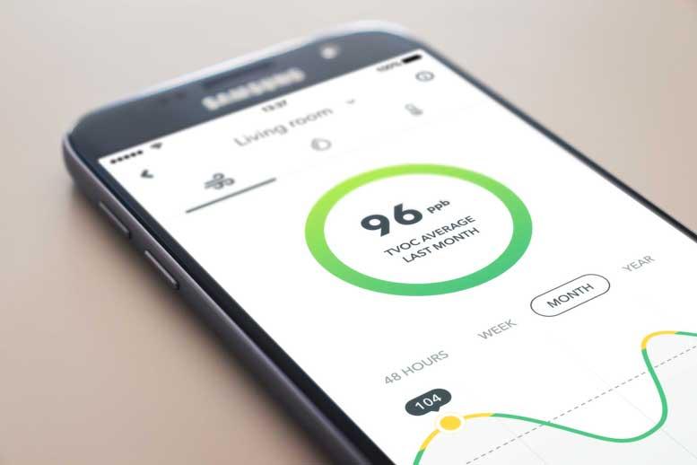 AirThings Wave Mini Air Quality Sensor App