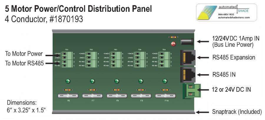 Wiring Diagram For Home Network Somfy Power Panel Enclosure Kit 5 Motor 24v Dc 1870196