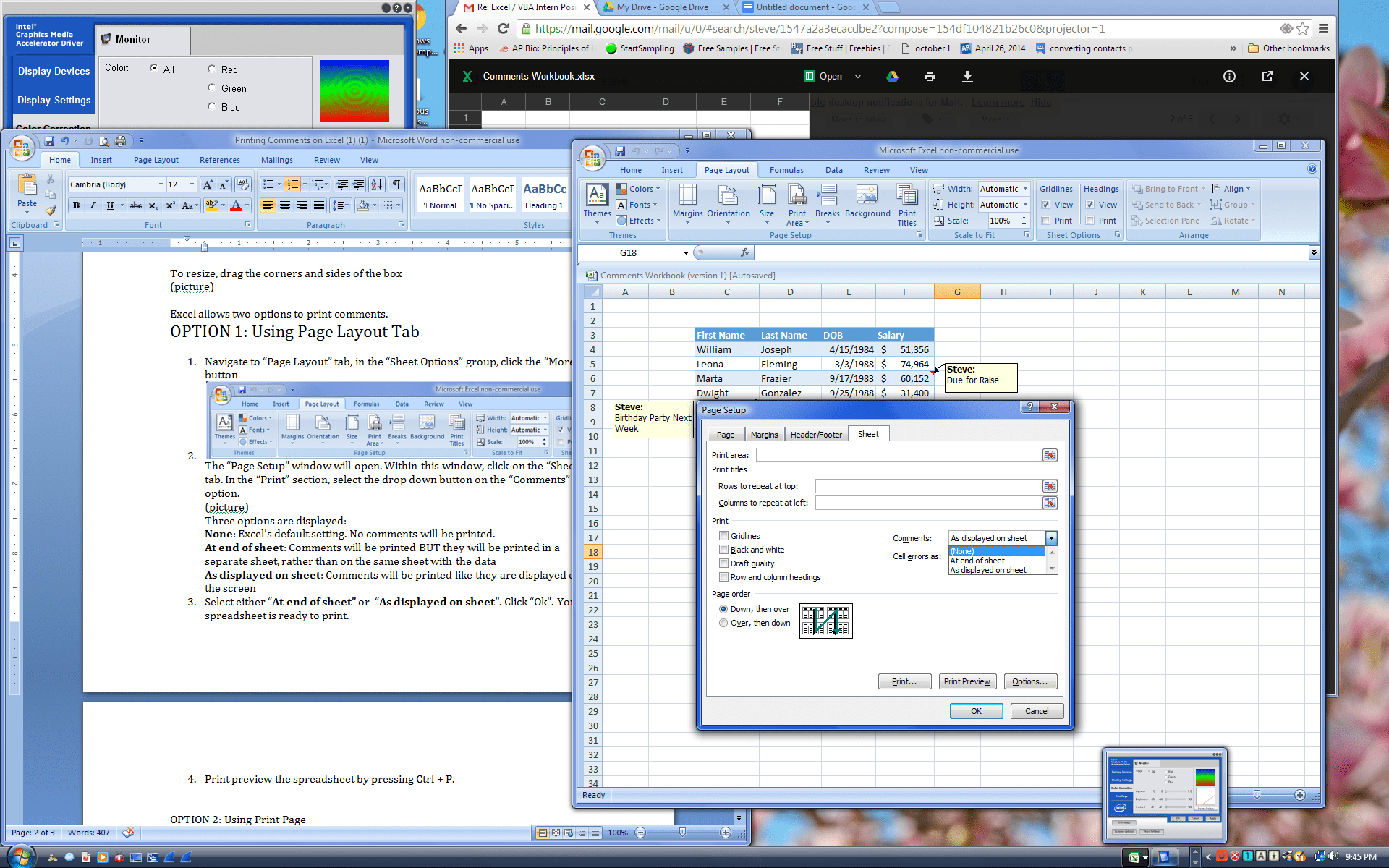 Print Comments In Excel Amp Vba How To W Pictures