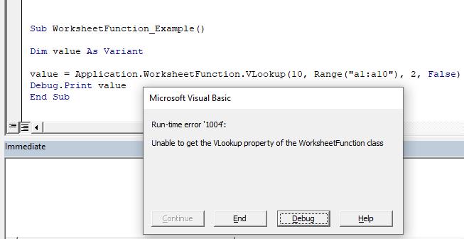 Use Worksheet Functions In A Macro