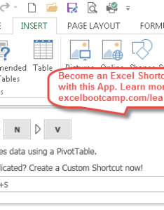 Open pivot table wizard also excel shortcuts become  shortcut expert rh automateexcel