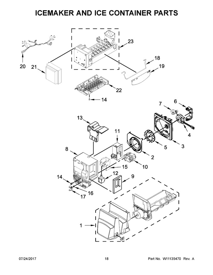 ice maker diagram 2001 ez go txt wiring wrf555sdhv01 automatic appliance parts model lookup for