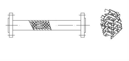 SX Pipeline liquid mixing stainless steel static inline