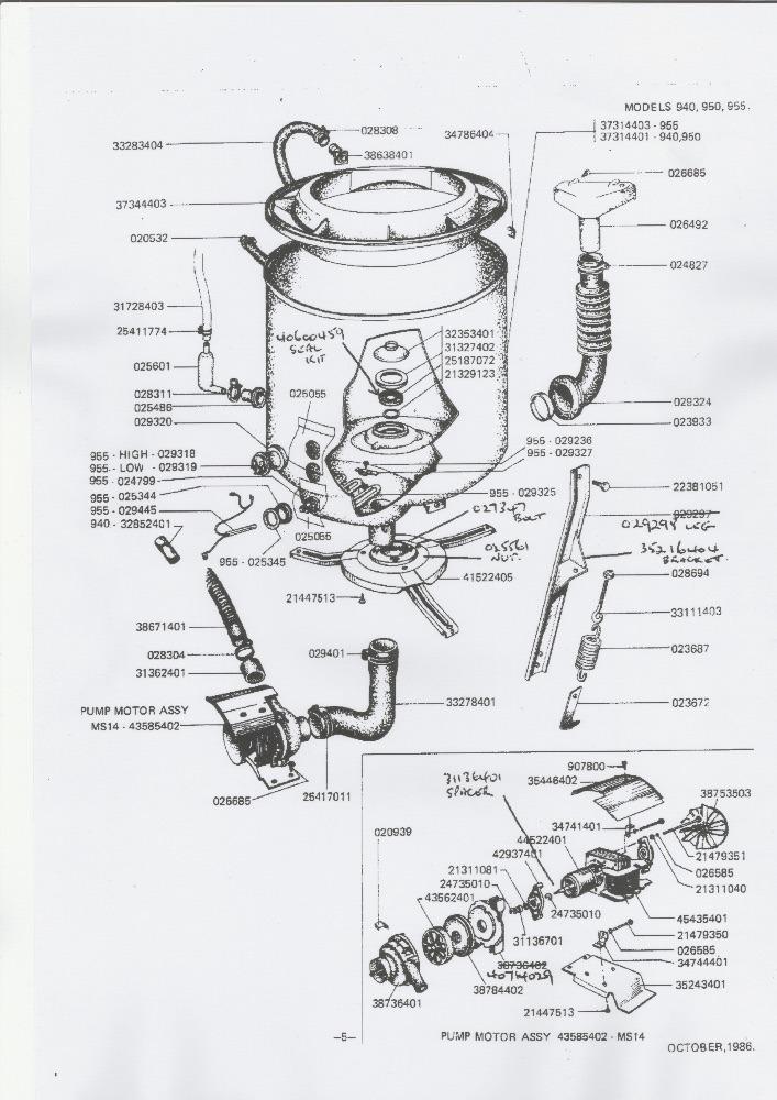 Hoover Washing Machine Parts Diagram