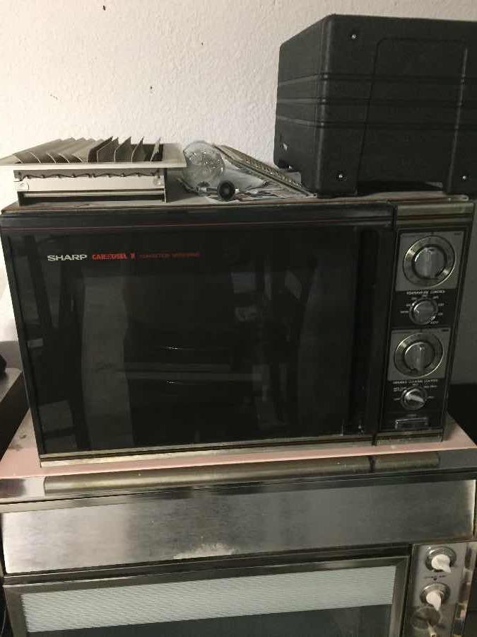 1989 classic sharp carousel ii microwave