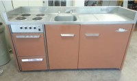 Vintage King kitchenette unit. stainless top w/ stove top ...