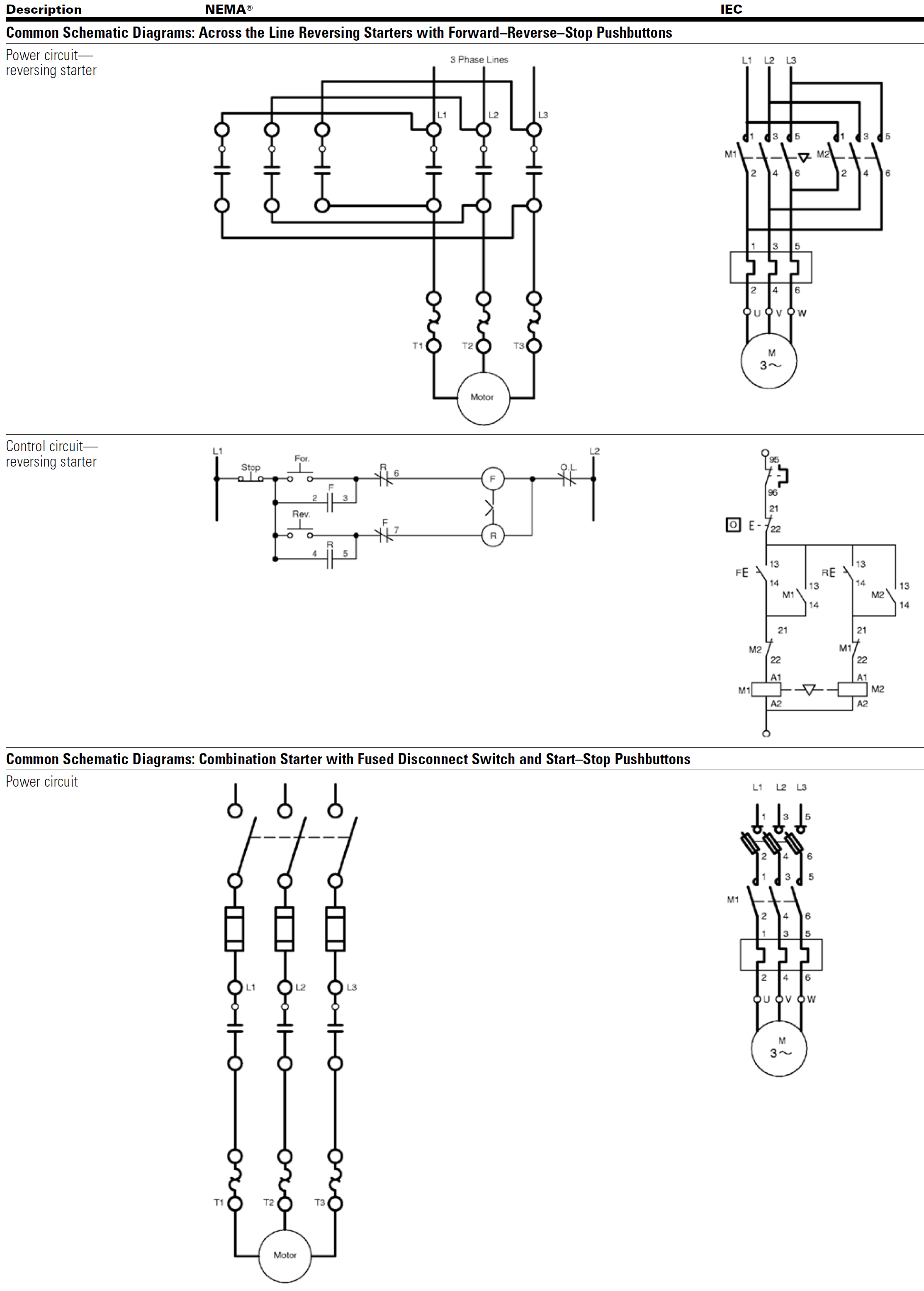 Electrical Schematic Nema Iec Electrical Symbols