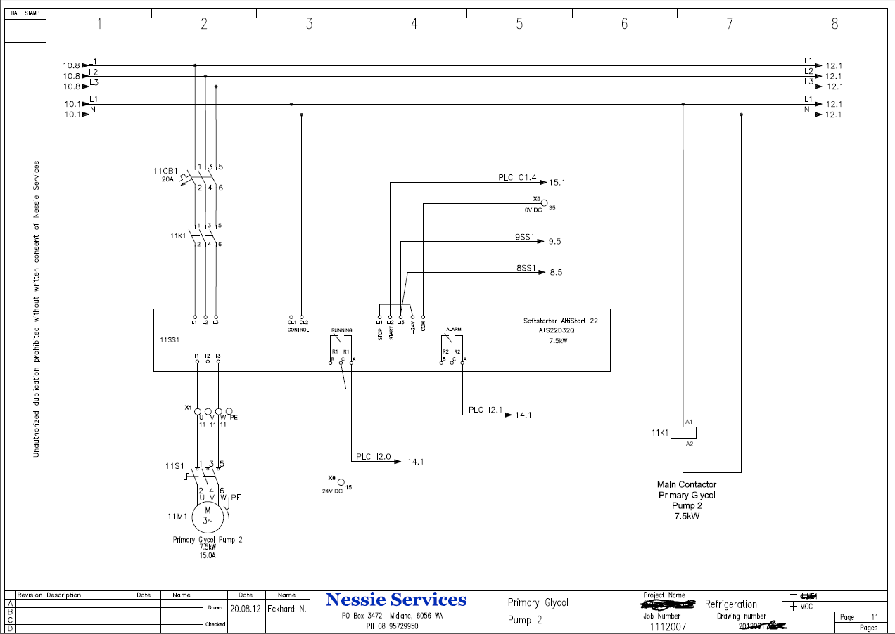 Pid Wiring Diagram 220v Refrigeration Control Automation Wa By Nessie Services