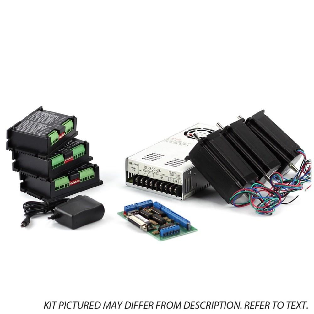 medium resolution of 3 axis nema23 cnc kit 48v 7 3a 270 oz in