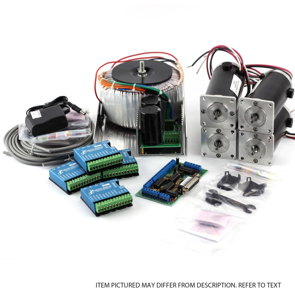 hight resolution of 4 axis nema23 350oz in 60vdc 20a psu g320x gecko driver