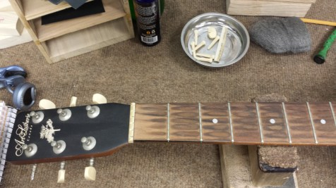 My Art & Lutherie parlor guitar needs some cleaning.