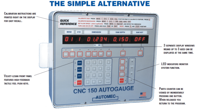 3 Axis Backgauge Control System for Press Brakes