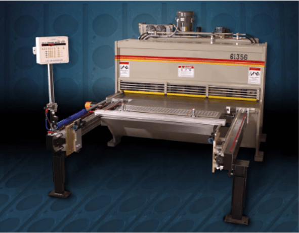 Increase the productivity of your shearing with the PS 50 AutoFeed CNC Shearing Machine for shear punching or stamping