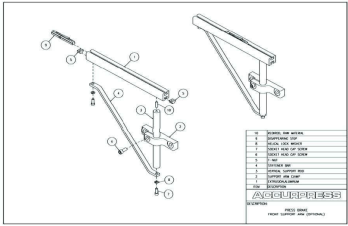 Press Brake Front Support Arm Assembly (Optional)