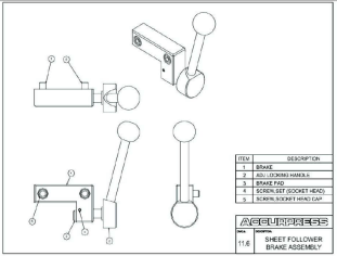 Sheet Follower Brake Assembly