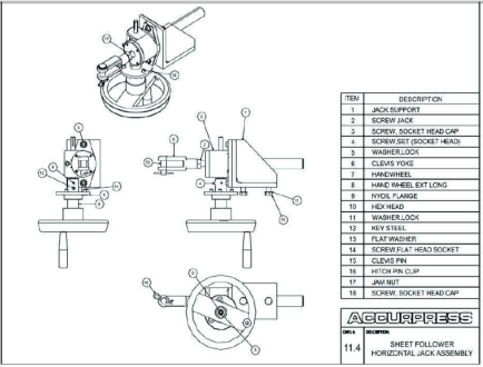 Press Brake Accurpress Parts and Assemblies Manual