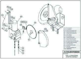 70320-UP Press Brake Eccentric Assembly