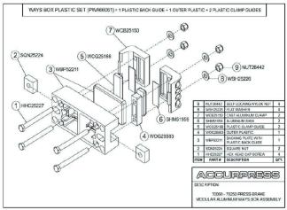 70060-70250-Press Brake Modular Aluminum Ways Box Assembly