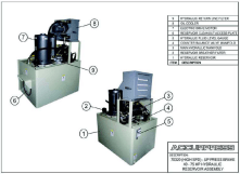 (High SPD) - UP Press Brake 40-75 HP Hydraulic Reservoir (Tank) Assembly