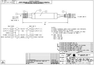 HURCO Harness, Servo Amp Power IF 423-0201-002