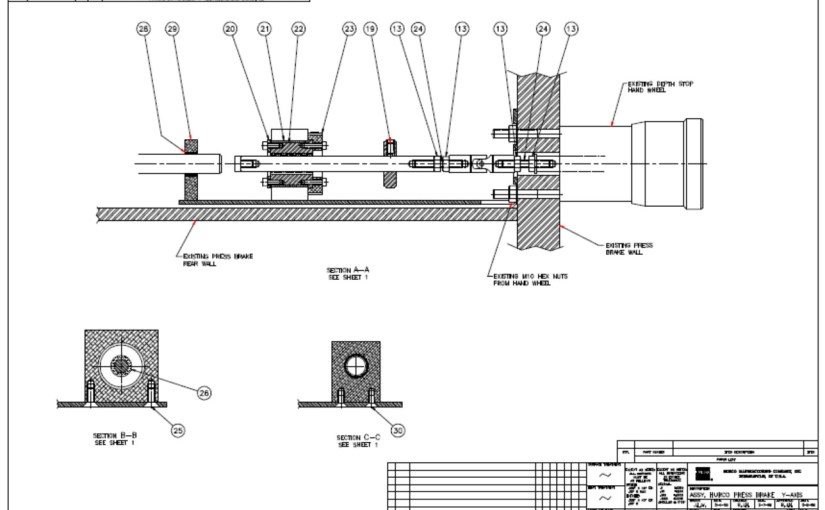 HURCO Autobend 6 Y-Axis Parts, Listings, Assemblies and Wiring Diagrams
