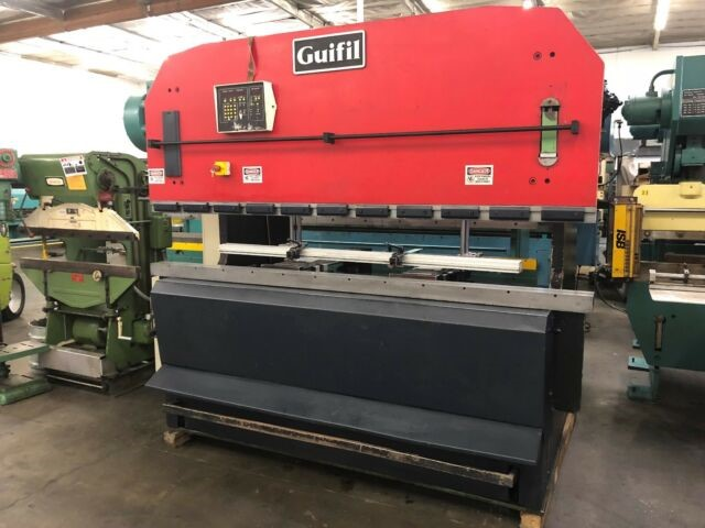 "Guifil 110 Ton Hydraulic Press Brake 100"" equipped with Automec Autogauge CNC Backgauge."